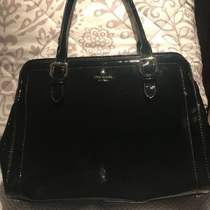 Kate Spade Black Patent Leather Work Tote